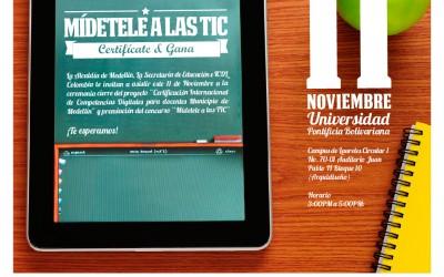 Más de 700 Docentes de los colegios oficiales de Medellín se le midieron a las TIC