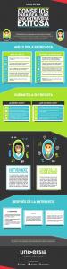 como realizar una entrevista de trabajo exitosa infografia