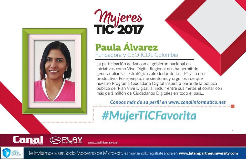 Paula Álvarez: nuestra directora elegida como 'Mujer TIC 2017'