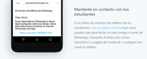uso whatsapp profes